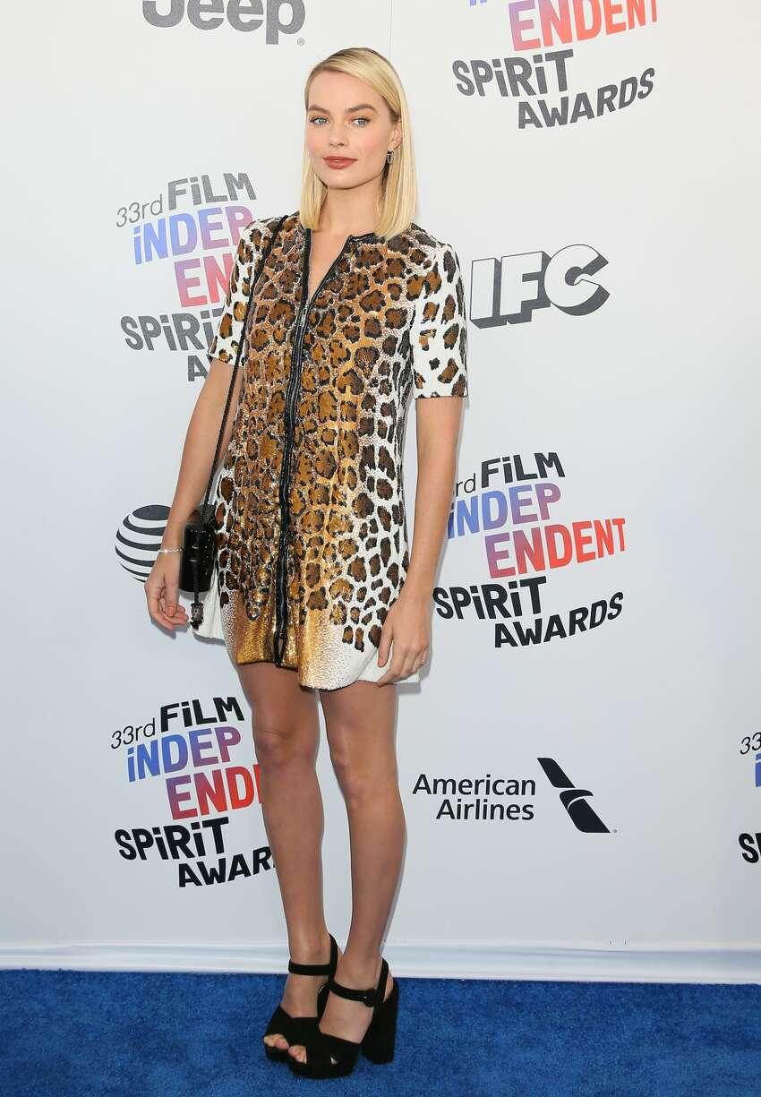 Actress Margot Robbie arrives.