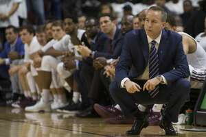 Texas A&M head coach Billy Kennedy watches his team move down the court against Kentucky during the second half of an NCAA college basketball game Saturday, Feb. 10, 2018, in College Station, Texas. (AP Photo/Sam Craft)