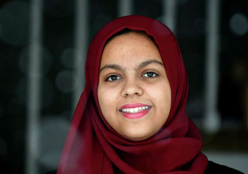 Asma Bawla, a senior at Shaker High, has recruited nearly 200 of her fellow students to participate in a walkout on Friday, March 2, 2018, at her home in Menands, N.Y. The walkout takes place on March 14, a day when students nationwide have vowed to walk out of school to protest gun violence. (Will Waldron/Times Union)