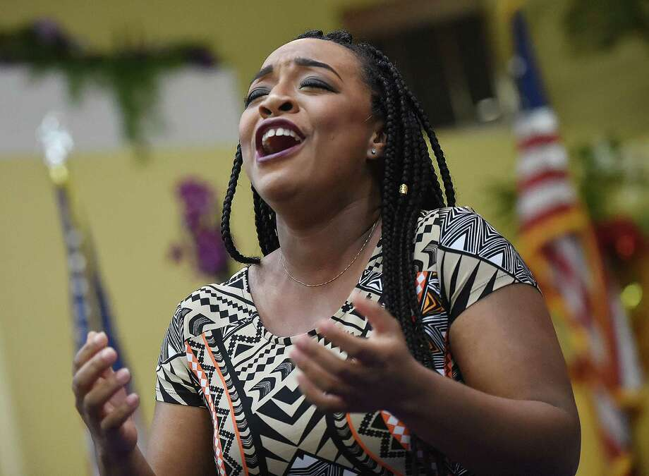 Opera singer Brandie Sutton, a soprano at the Metropolitan Opera performs the Black History celebration, Satuday, March 3, 2018, at Mount Zion Seventh-day Adventist Church at 64 Marlboro St. in Hamden. Photo: Catherine Avalone, Hearst Connecticut Media / New Haven Register
