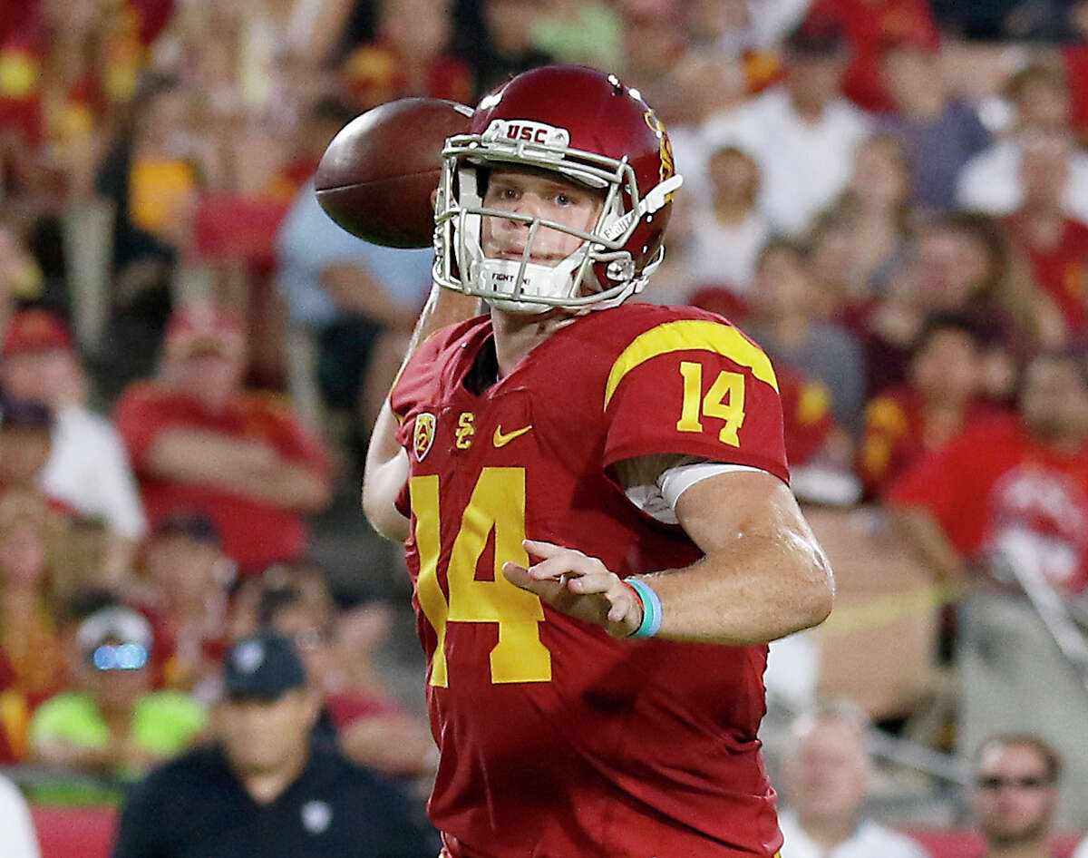 NFL combine loser Sam Darnold, QB, USC Not throwing at the combine won't affect his draft status because he can excel at his pro day and in private workouts, but from a competitive standpoint, you'd think he would want to show the other top quarterback prospects what he's got. He ran a 4.85 and wasn't that impressive in the drills. He's still a candidate to be drafted first overall.