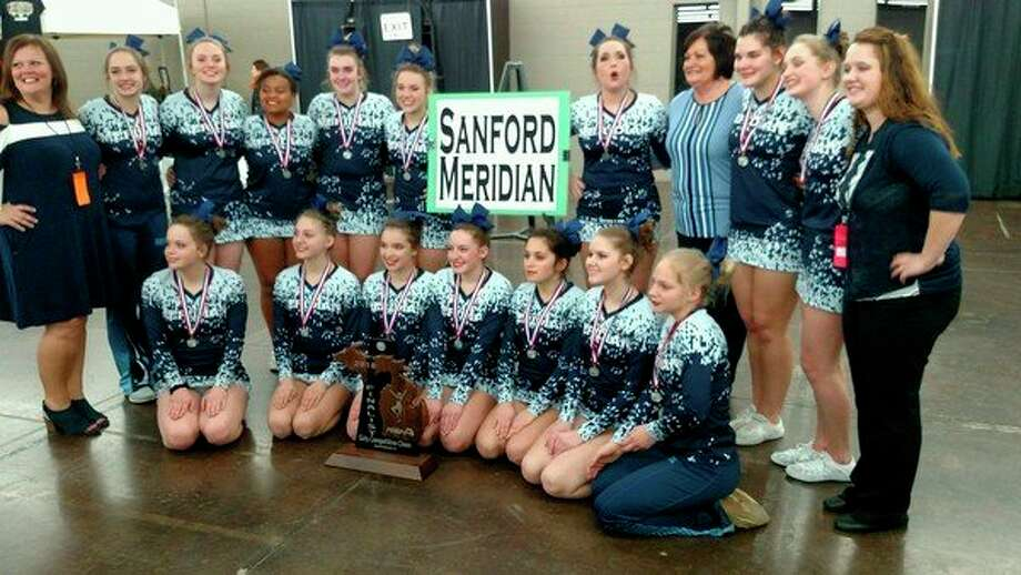 The Meridian cheer team placed second at the Division 4 state finals on Saturday in Grand Rapids, the highest finish at state in the history of the Meridian program. (Photo provided)