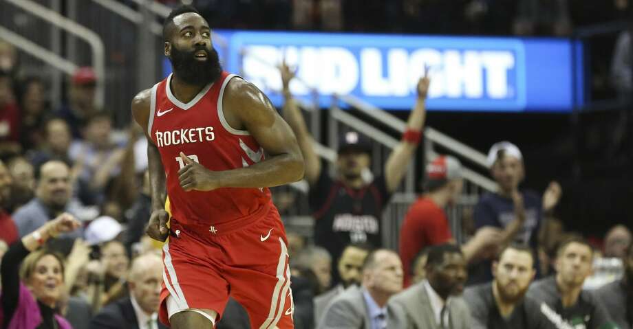 Houston Rockets fans cheer for James Harden (13) as he scored a three-pointer during the second quarter of a NBA game against the Boston Celtics at the Toyota Center on Saturday, March 3, 2018, in Houston. ( Yi-Chin Lee / Houston Chronicle ) Photo: Yi-Chin Lee/Houston Chronicle