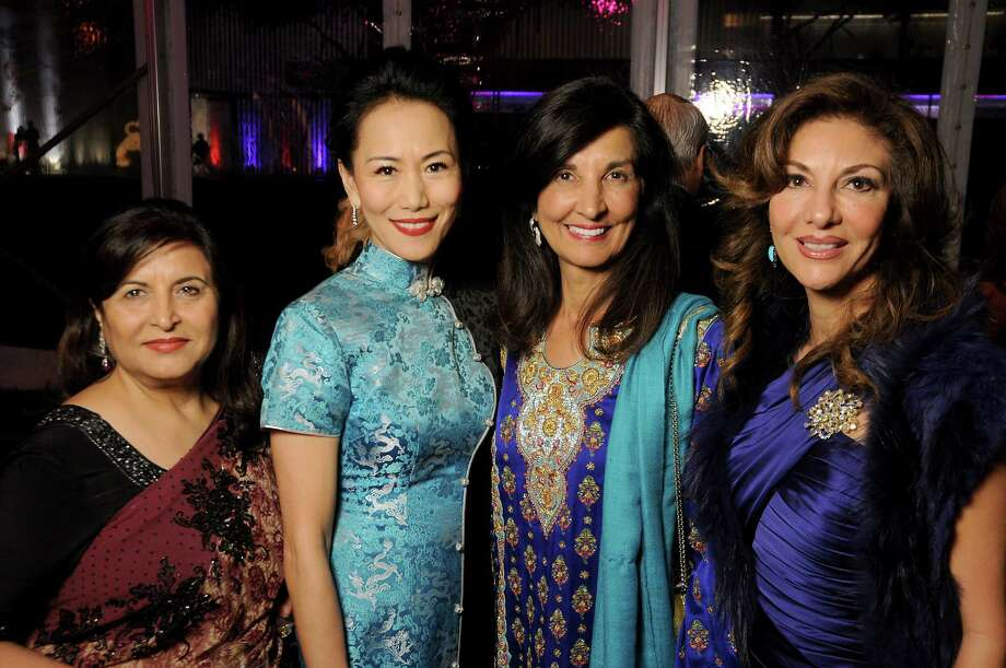 From left: Shahnaz Wallany, Y. Ping Sun, co-chair Sultana Mangalji and Neda Ladjevardian at the 2018 Asia Society's Tiger Ball Saturday March 03,2018. (Dave Rossman Photo) Photo: Dave Rossman, For The Chronicle / Dave Rossman