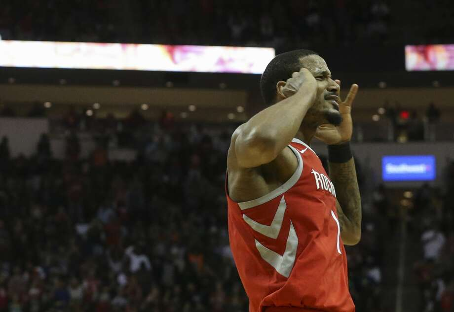 After Saturday's come-from-behind win over Boston at Toyota Center, Trevor Ariza and his Rockets teammates will go for their 16th consecutive win Tuesday night at Oklahoma City. Photo: Yi-Chin Lee/Houston Chronicle
