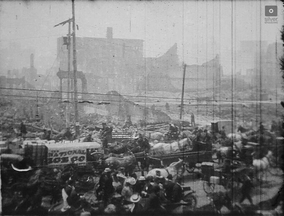 Film still from long-lost footage the Miles Brothers film studio captured of San Francisco two weeks after the 1906 earthquake. Photo: Owned And Provided By Jason Wright Silvershadows.co And Digitized B David Kiehn Nilesfilmmuseum.org
