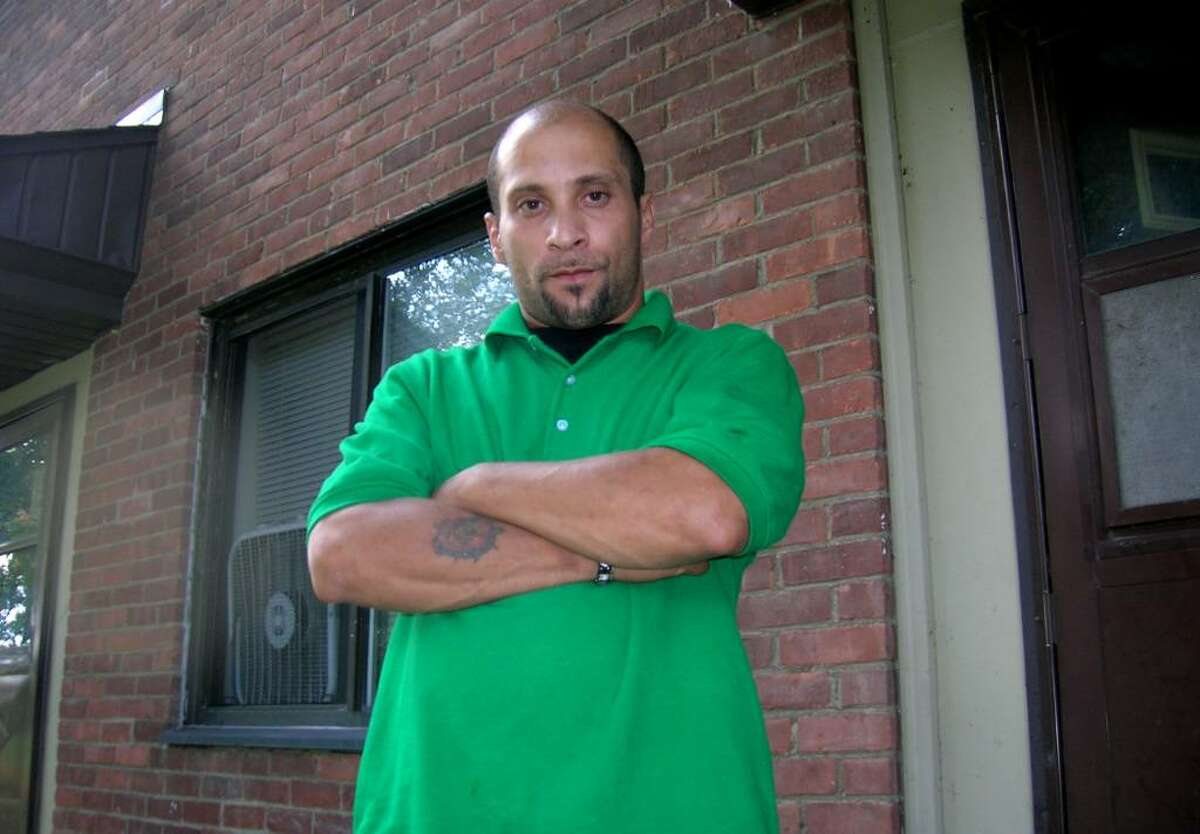 Victor Gonzales of Troy says an absentee ballot delivered to him by an elected official and a housing authority employee was latter forged and submitted without his knowledge. (Brendan Lyons / Times Union)