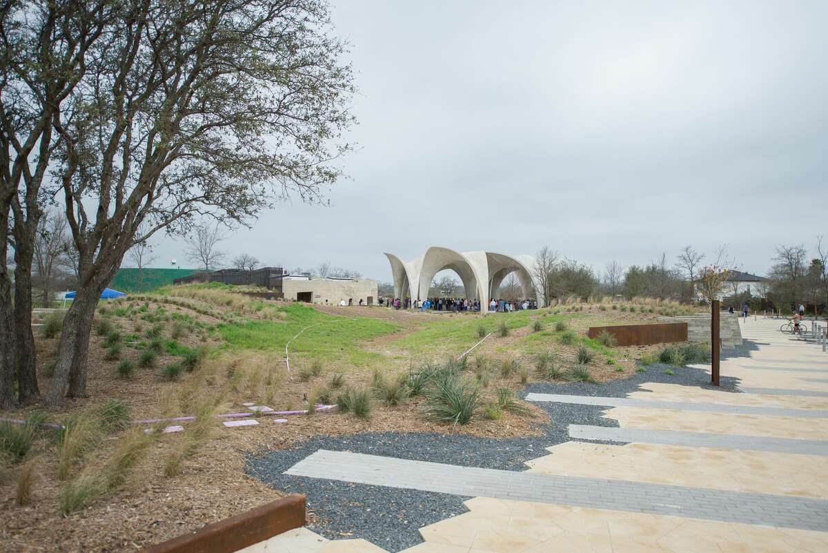It was a day for smiles and fun despite gloomy weather at the grand opening of Confluence Park Saturday, March 3, 2018.