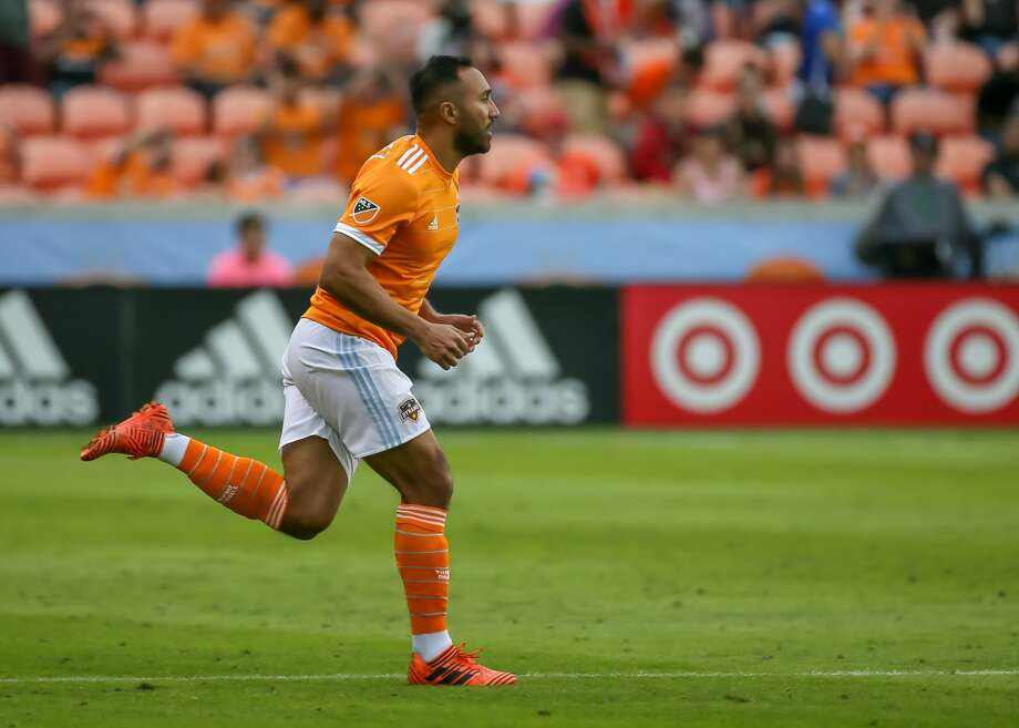 HOUSTON, TX - MARCH 03:  Houston Dynamo forward Arturo Alvarez (12) enters the pitch and makes his debut during the opening MLS match between the Atlanta United FC and Houston Dynamo on March 3, 2018 at BBVA Compass Stadium in Houston, Texas.  (Photo by Leslie Plaza Johnson/Icon Sportswire via Getty Images) Photo: Icon Sportswire/Icon Sportswire Via Getty Images