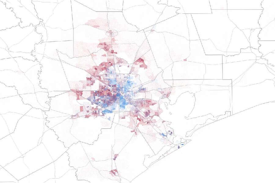 Houston Area Maps Show Where Democrats Gop Are Gaining Votes Houstonchronicle Com