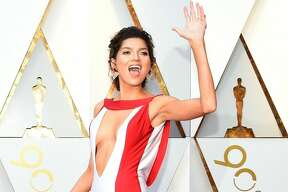 Blanca Blanco arrives for the 90th Annual Academy Awards on March 4, 2018, in Hollywood, California. / AFP PHOTO / VALERIE MACON (Photo credit should read VALERIE MACON/AFP/Getty Images)