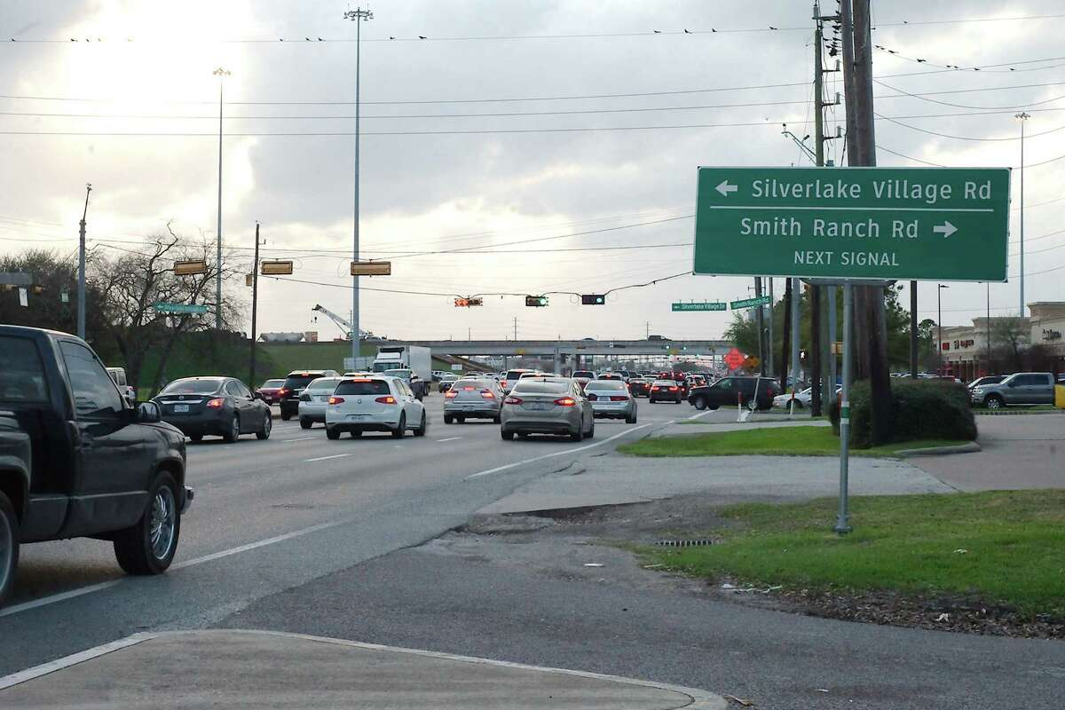 Traffic approaches what one resident refers to as