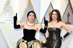 Rita Moreno (L) and Fernanda Luisa Gordon arrive for the 90th Annual Academy Awards on March 4, 2018, in Hollywood, California.  / AFP PHOTO / VALERIE MACONVALERIE MACON/AFP/Getty Images