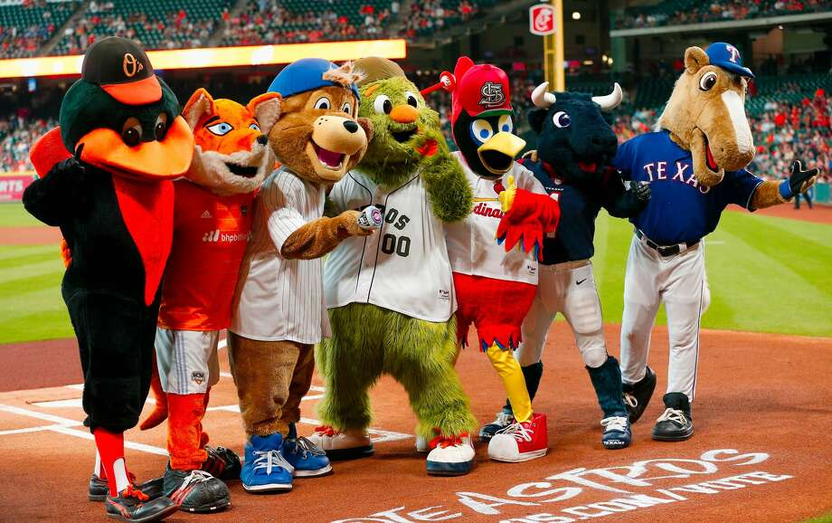 Browse through the photos to see where your favorite mascot stacks up against the rest of the league. Photo: Bob Levey/Getty Images