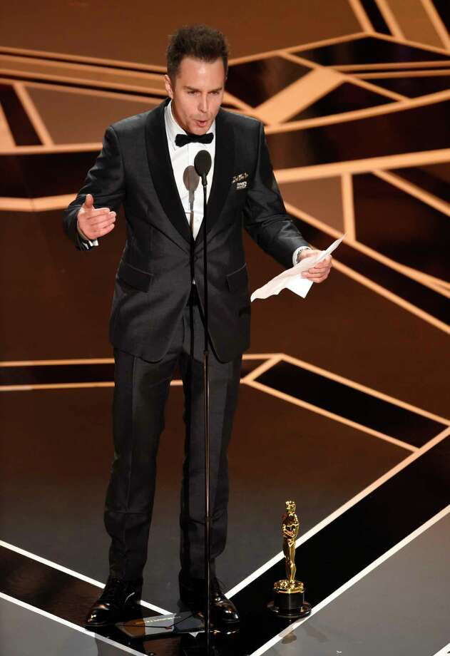 """Sam Rockwell accepted the award for best performance by an actor in a supporting role for """"Three Billboards Outside Ebbing, Missouri."""" The Bay Area local was favored, but he wasn't quite a sure thing, and until Viola Davis announced his name, there was some lingering thought that Willem Dafoe might win. Photo: Chris Pizzello, Chris Pizzello/Invision/AP / 2018 Invision"""