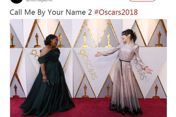 """Call Me By Your Name 2 #Oscars2018""  Source:  Twitter"