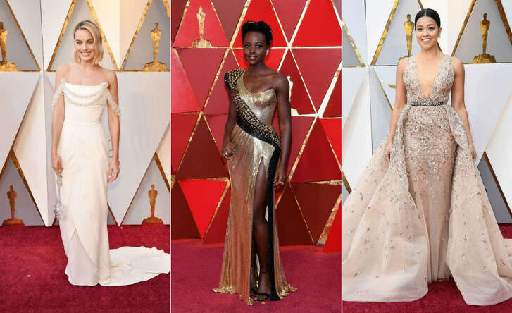 Margot Robbie, Lupita Nyong'o and Gina Rodriguez stun at the 90th Academy Awards in Los Angeles.