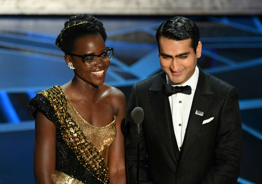 Kenyan actress Lupita Nyong'o (L) and US-Pakistani stand-up comedian Kumail Nanjiani present the Oscar for Best Production Design during the 90th Annual Academy Awards show on March 4, 2018 in Hollywood, California. / AFP PHOTO / Mark Ralston  Photo: (MARK RALSTON/AFP/Getty Images)