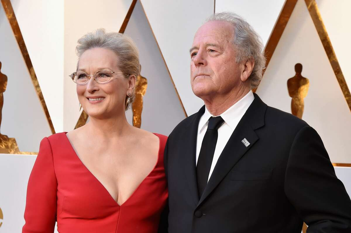 Meryl Streep (L) and husband Don Gummer attend the 90th Annual Academy Awards at Hollywood & Highland Center on March 4, 2018.