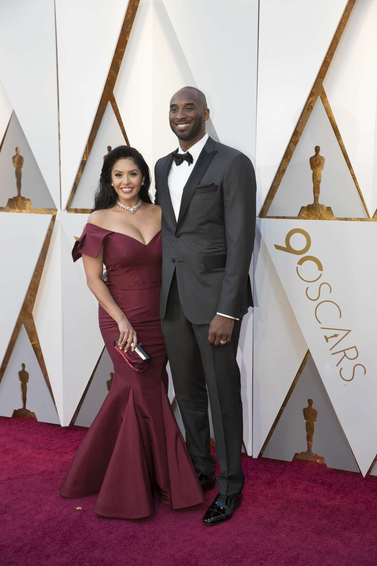 Kobe Bryant and wife Vanessa attend the 90th Annual Academy Awards at Hollywood & Highland Center on March 4, 2018.