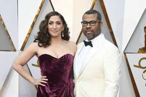 HOLLYWOOD, CA - MARCH 04: Chelsea Peretti (L) and Jordan Peele attend the 90th Annual Academy Awards at Hollywood & Highland Center on March 4, 2018 in Hollywood, California. (Photo by Frazer Harrison/Getty Images)