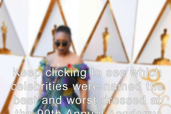 Keep clicking to see which celebrities were named the best and worst dressed at the 90th Annual Academy Awards.