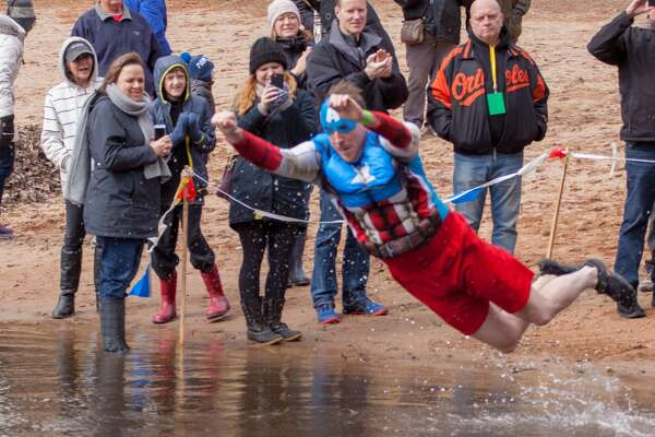 The Middletown Penguin Plunge to benefit Special Olympics took place at the Polish Falcons Club at Crystal Lake in Middletown on Saturday.