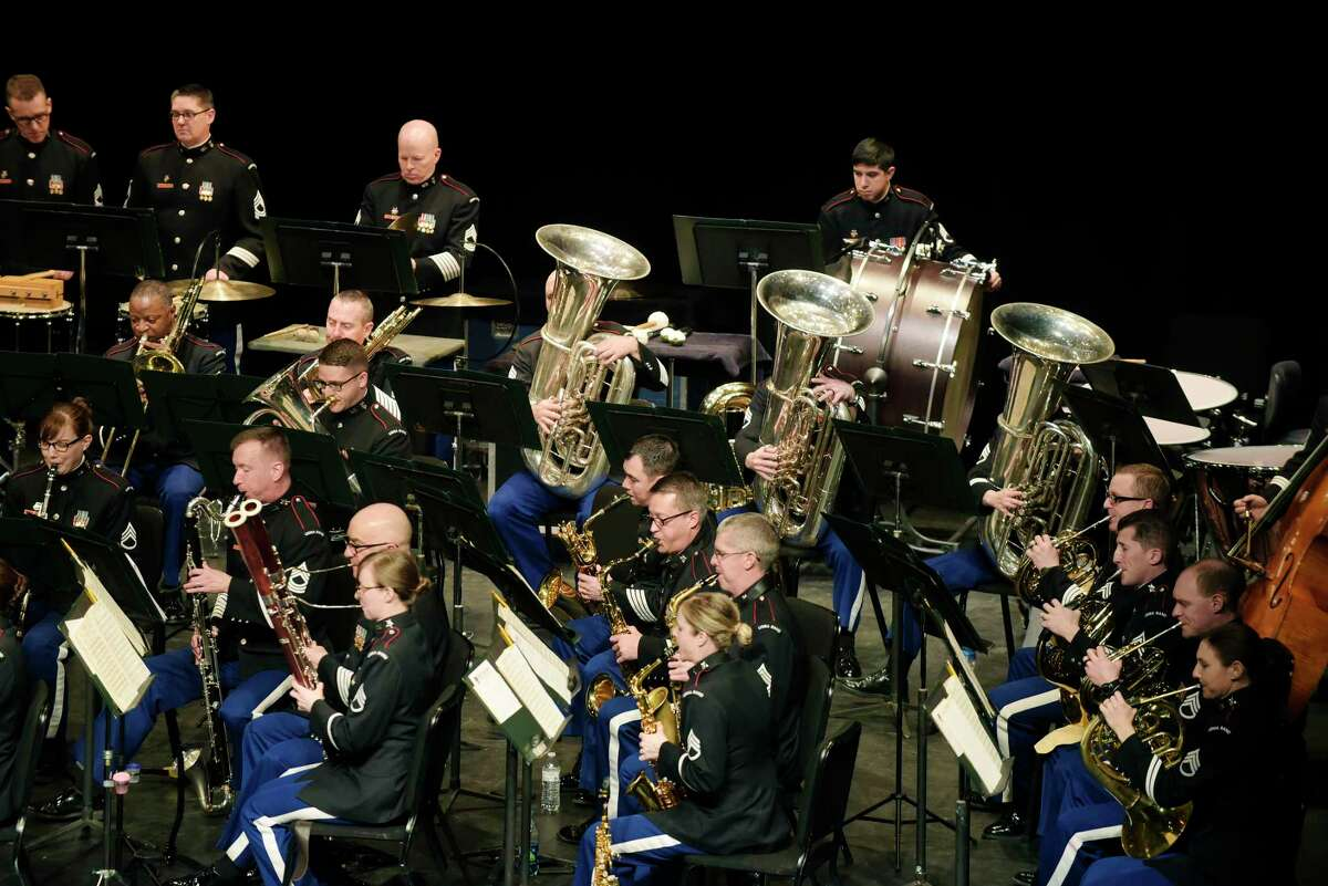 Members of the West Point Concert Band perform at The Egg on Sunday, March 4, 2018, in Albany, N.Y. The concert featured the works of John Philip Sousa. (Paul Buckowski/Times Union)