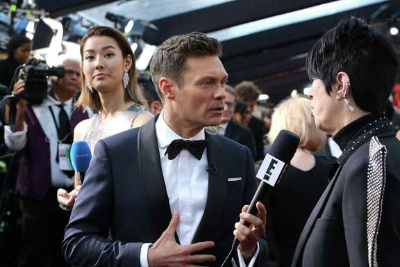 Ryan Seacrest on the red carpet before the 90th Academy Awards.
