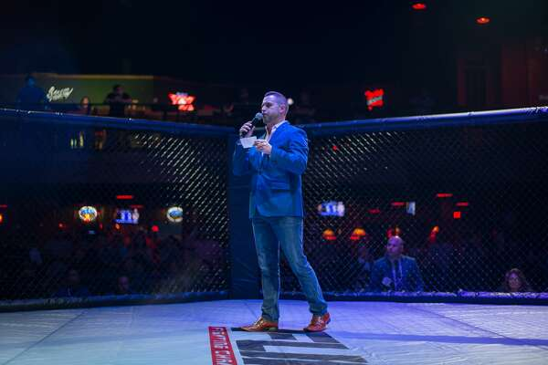 Cowboys Dancehall transformed from Texas honky tonk to fight-night arena on Sunday, March 4, 2018, for the FURY Fighting Championship. Fans cheered on the mixed martial arts cagefighters as they sipped on drinks and enjoyed Cowboys' lively atmosphere.