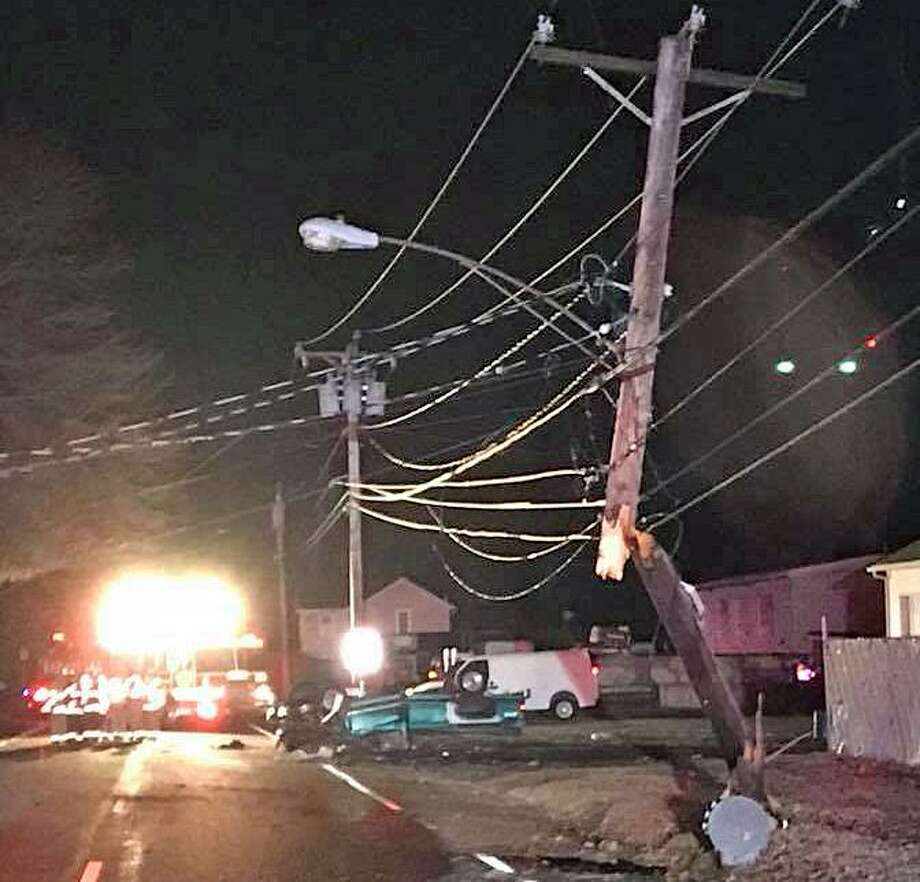 Route 115 remains closed because of a motor-vehicle crash into a utility pole late Sunday night. The road - also known as South Main Street - is closed between Colony Street and Bellevue Terrace. Police have not released details of the crash. Photo: /