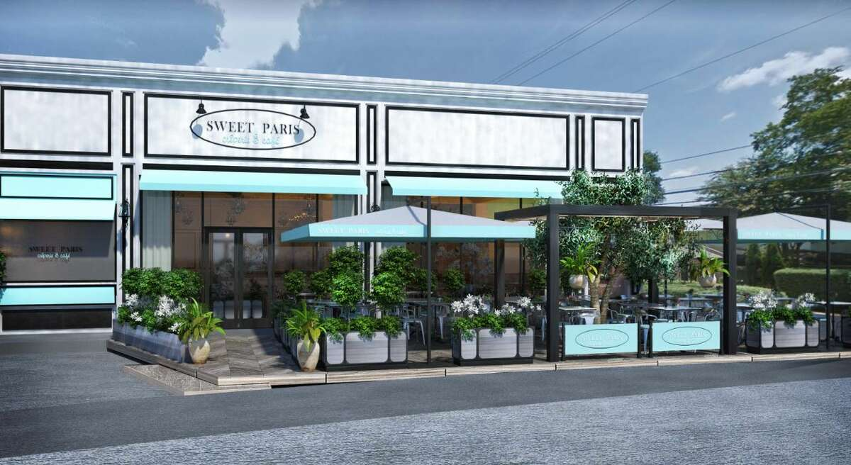 Artist rendering of the new Sweet Paris Creperie & Cafe that will open late summer 2018 in Highland Village.