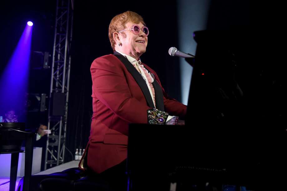 Sir Elton John performs onstage during the 26th annual Elton John AIDS Foundation Academy Awards Viewing Party at The City of West Hollywood Park on March 4, 2018 in West Hollywood, California. Photo: Michael Kovac/Getty Images For EJAF