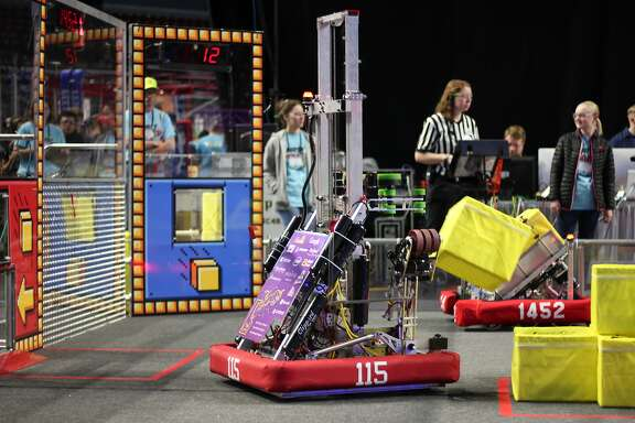 A photo showing Monta Vista Robotics Team's robot,� El Toro XXI. The robot, along with thousands of dollars worth of tools, was stolen from the team over the weekend in Utah.