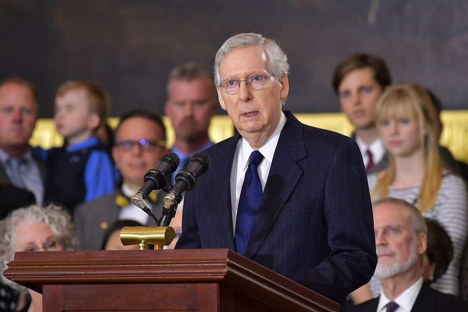 Senate Majority Leader Mitch McConnell, R-Ky., has sought to steer clear of controversial legislation and avoids Democratic filibusters in his chamber. Photo: MANDEL NGAN, AFP/Getty Images