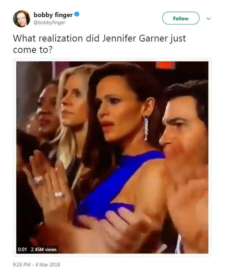 """""""What realization did Jennifer Garner just come to?""""Source: Twitter Photo: Twitter"""