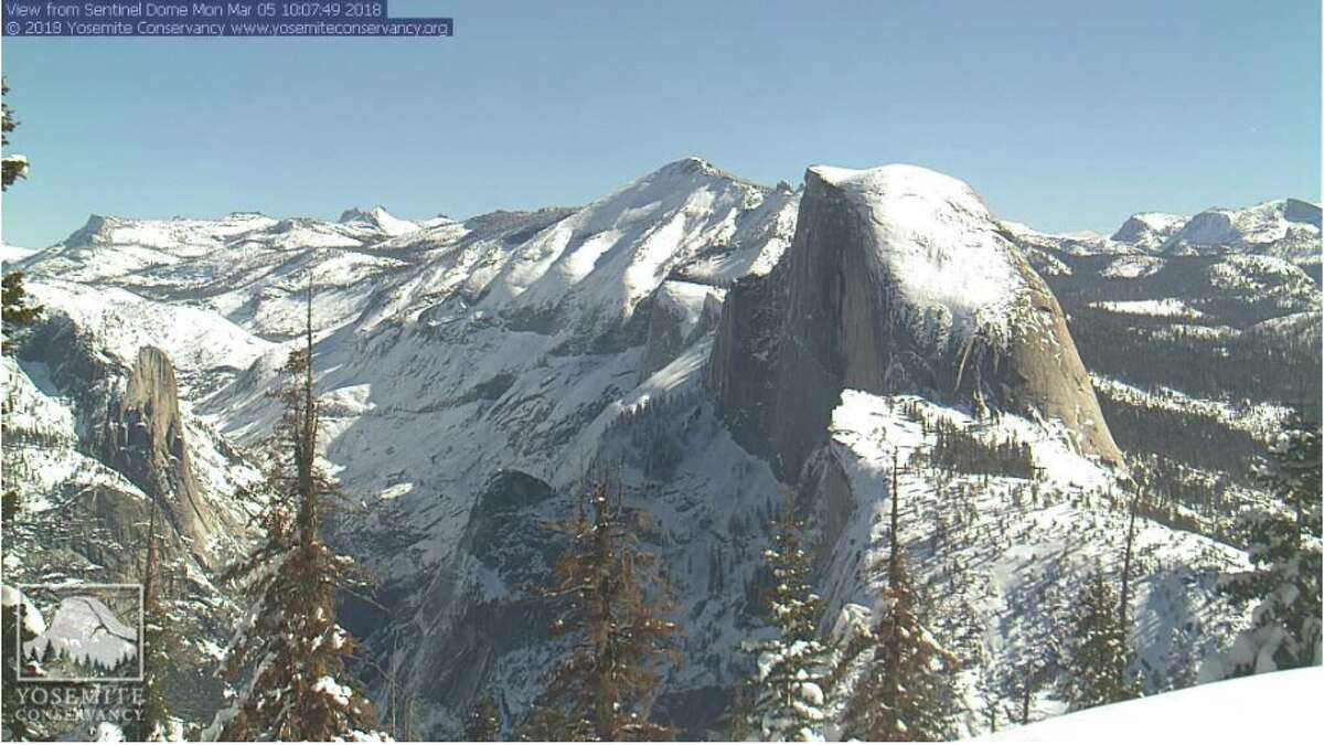 The high Sierra blanketed in snow in Yosemite National Park on March 5, 2018