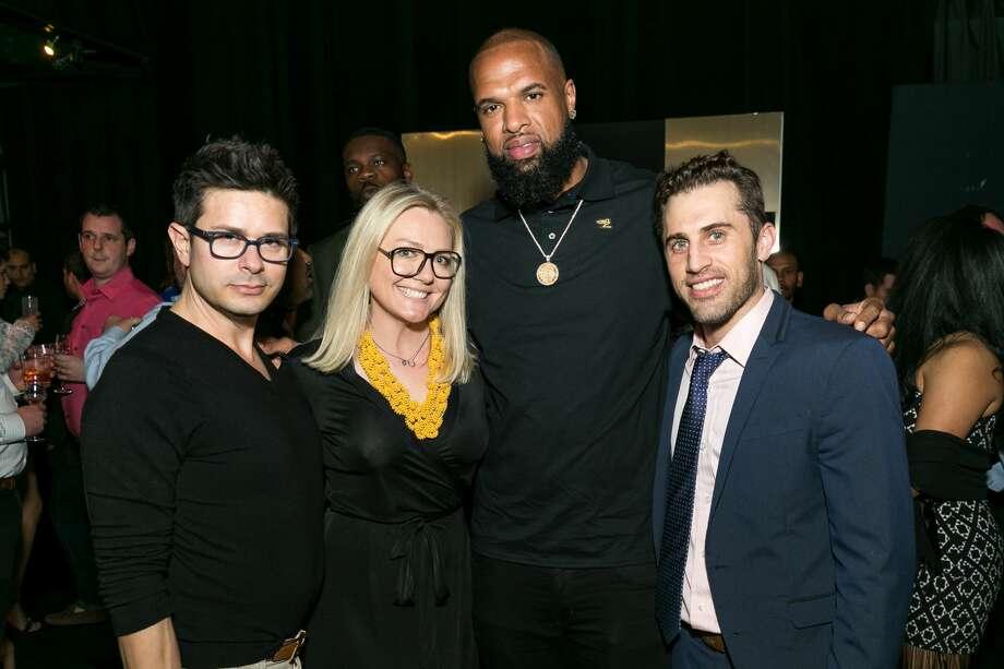 Hunter Marten, Caroline Starry, Slim Thug, and Michael Mandola Photo: Emily Jaschke
