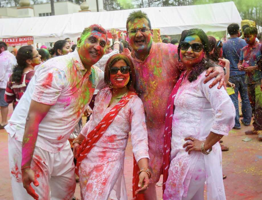 Photos during the annual Holi festival on Saturday, March 3, 2018, at the Hindu Temple of The Woodlands. (Michael Minasi / Houston Chronicle) Photo: Michael Minasi, Staff Photographer / © 2017 Houston Chronicle