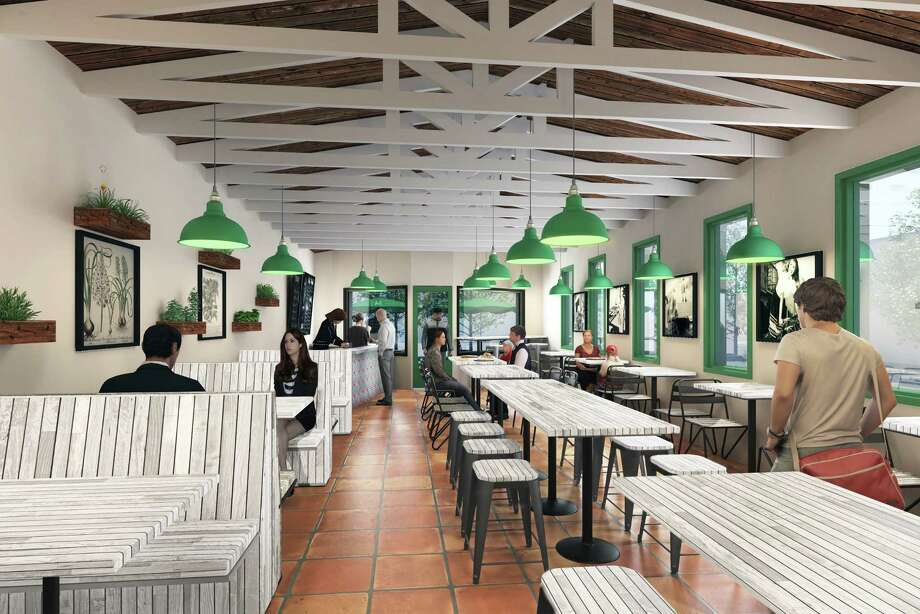A rendering depicts the space for Pizza Motus, set to open on Edloe this summer. Photo: Pizza Motus