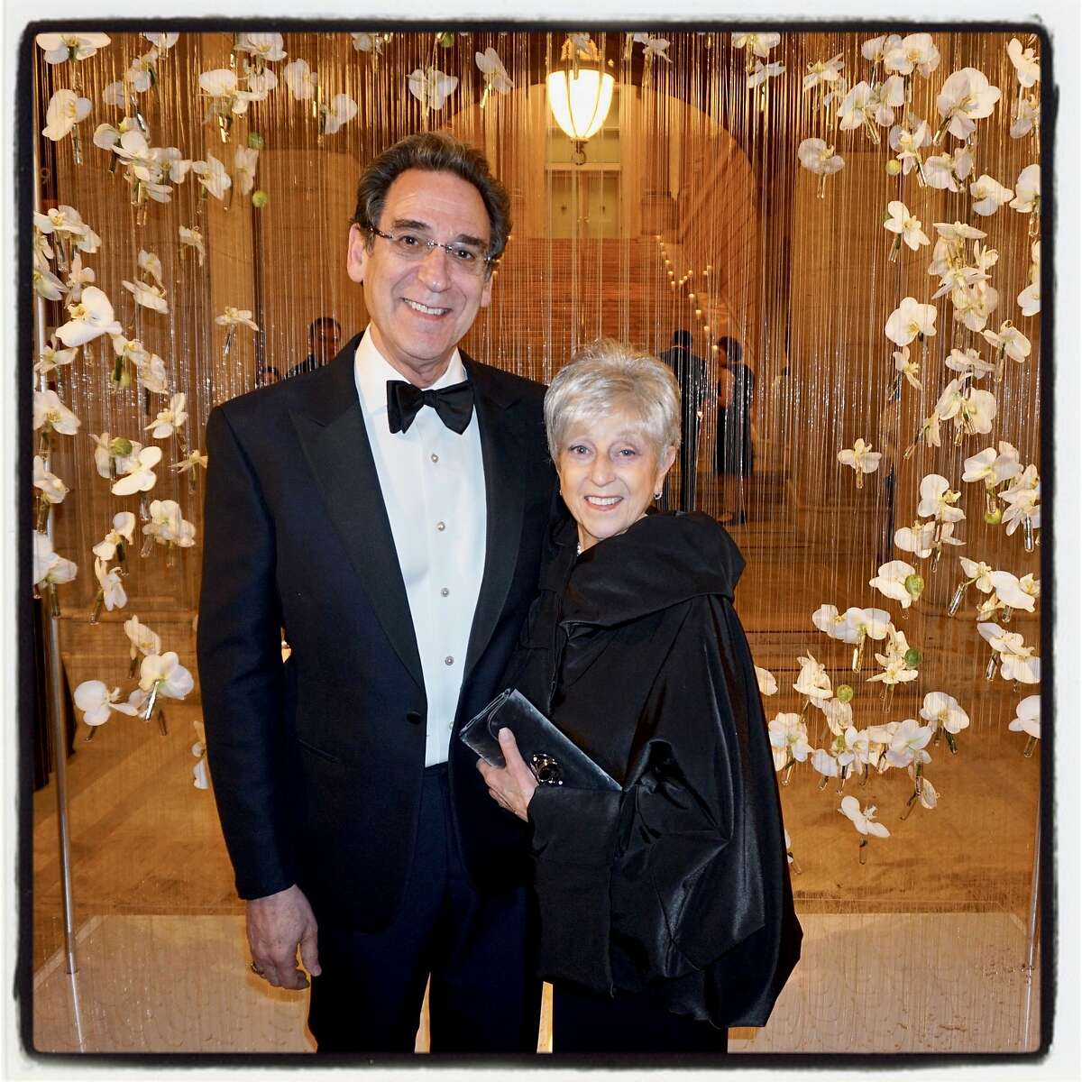 Asian Art Museum gala committee member Fred Levin and his wife, Nancy Livingston. March 1, 2018.
