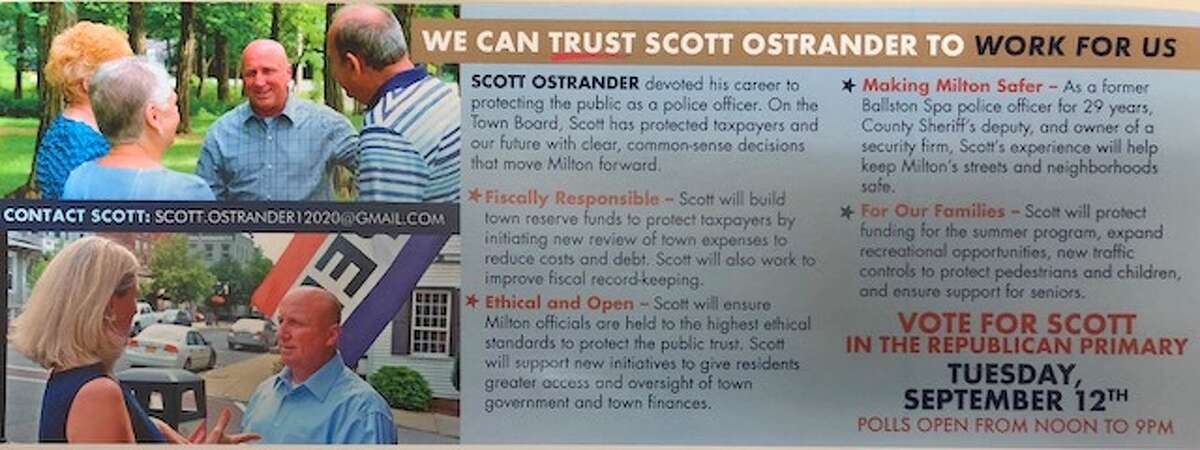 Scott Ostrander ran for Town of Milton supervisor in 2017 as the ethics candidate.