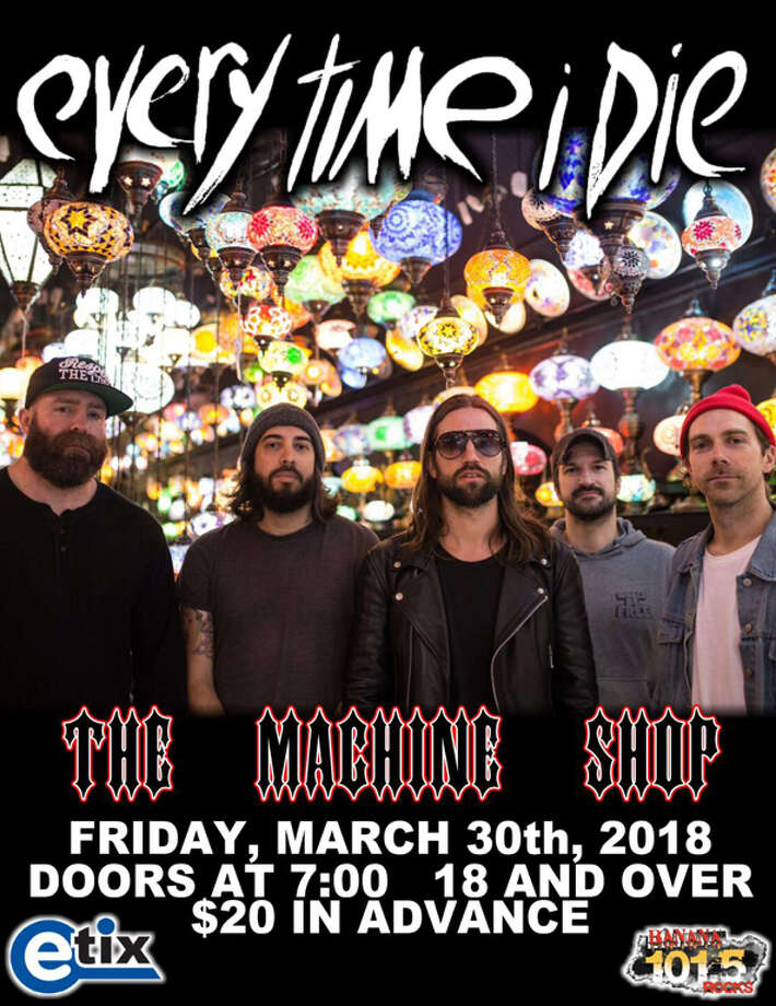 March 30: Every Time I Die, The Machine Shop, Flint, www.themachineshop.info Photo: Www.themachineshop.info