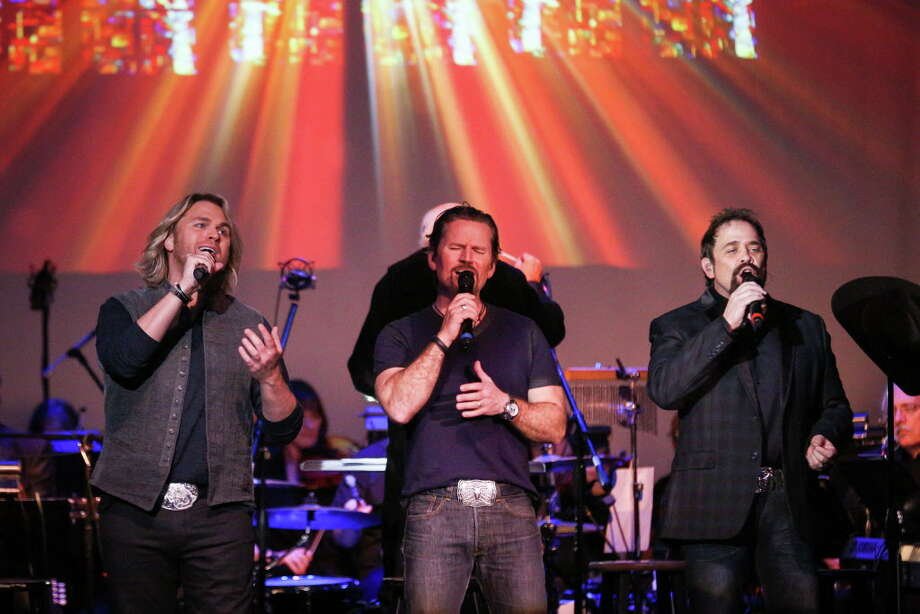 The Texas Tenors from the left, Marcus Collins, JC Fisher, and John Hagen, perform with the Conroe Symphony Orchestra as part of the Rising Stars and Legends of Texas concert series on Sunday, March 4, 2018, at the Crighton Theatre. Photo: Michael Minasi, Staff Photographer / © 2017 Houston Chronicle