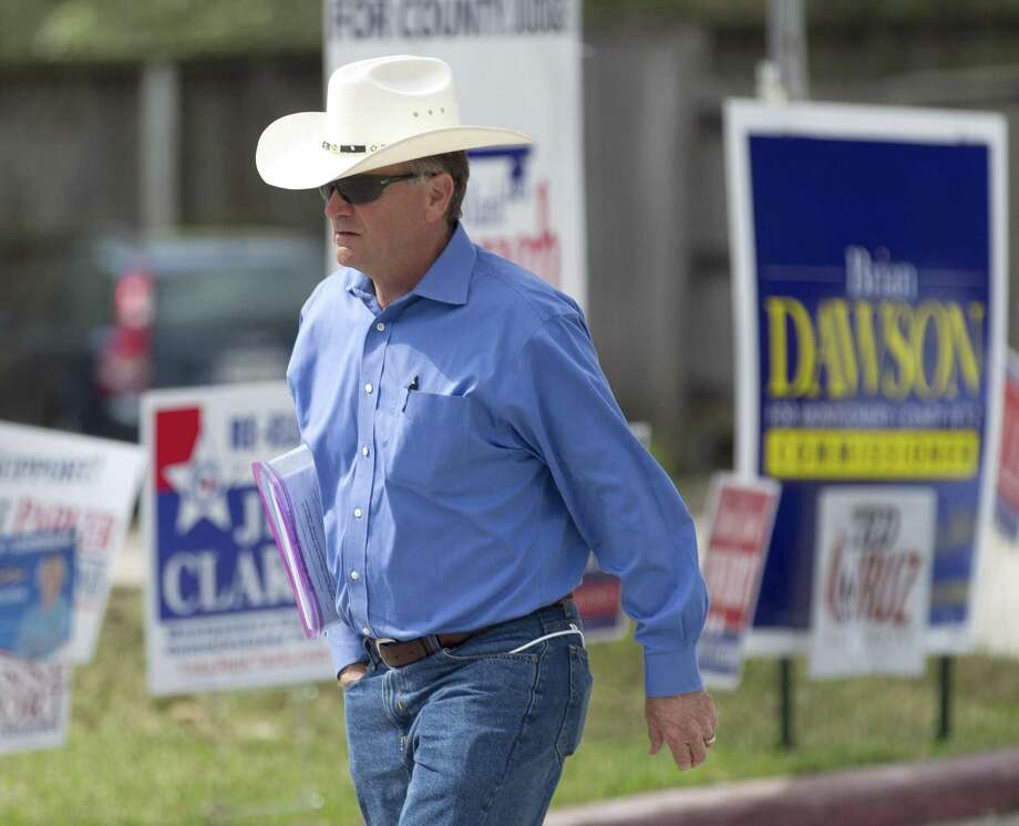 Steve Toth, Republican candidate for District 15 state Representative, is seen during the last day of early voting at the South County Community Center, Friday, March, 2, 2018, in The Woodlands. Photo: Jason Fochtman, Staff Photographer / Houston Chronicle / © 2018 Houston Chronicle