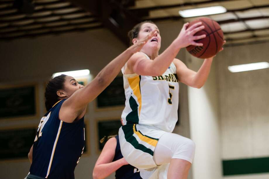 Averill Park graduate Kelly Donnelly of the Skidmore women's basketball team. (Courtesy of Skidmore Athletics)