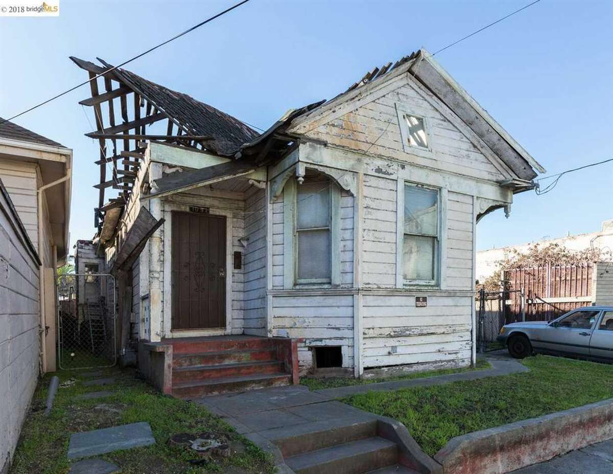 A home at 1091 Alcatraz in West Oakland is on the market for $399,000. The home is a teardown, so the price is for the flat 5,357-square-foot lot.
