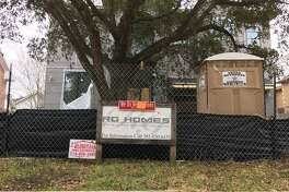 Construction on this RG Homes property on Beech St. in Bellaire has stopped.