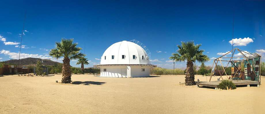 "The Integratron, in Landers, where visitors are treated to ""sonic baths."" Photo: Rosa Menkman/Flickr"