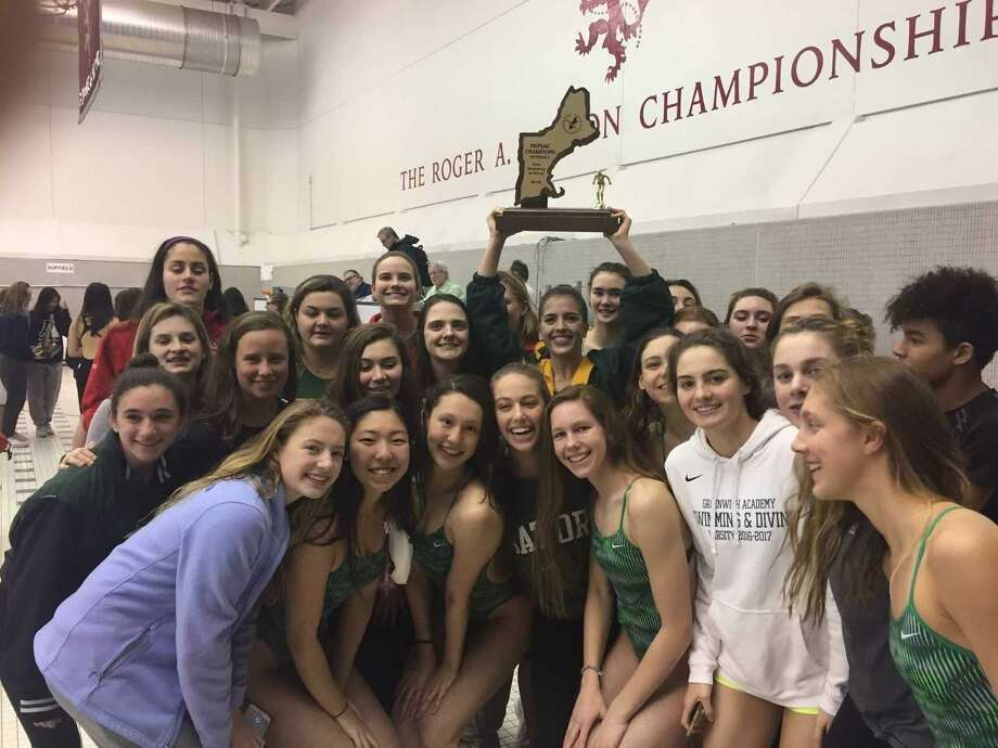 The Greenwich Academy swimming team won the NEPSAC Division I title for the second straight season on Sunday at Phillips Exeter Academy Photo: Contributed Photo
